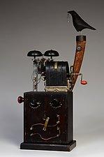 Boy Wonder Makes Useless Machines by Mark Orr (Wood Sculpture)