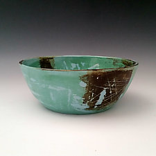Blue and Green Bowl by Whitney Smith (Ceramic Bowl)
