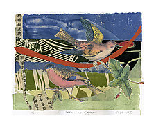 Moon over Japan by Ouida  Touchon (Monotype Print)