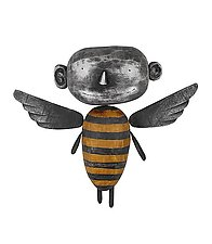 Angel MoonBee by Bruce Chapin (Wood Wall Sculpture)