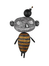 MoonBee with Idea by Bruce Chapin (Wood Wall Sculpture)