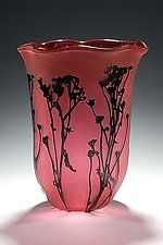 Wildflower Field by Lisa Tate (Art Glass Vase)