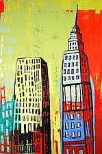 City Friends by Barbara Gilhooly (Acrylic Painting)