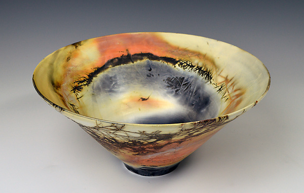 Flame Painted Flare Bowl