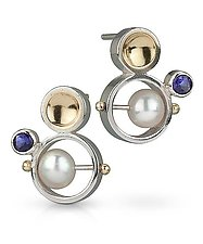 Bubble Earring by Danielle Miller (Silver, Gold & Stone Earring)