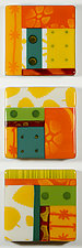 Sunny Side Up by Mary Johannessen (Art Glass Wall Sculpture)