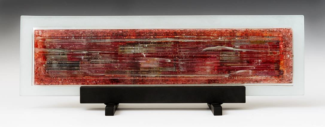 Magical Mystery In Red I By Alicia Kelemen Art Glass