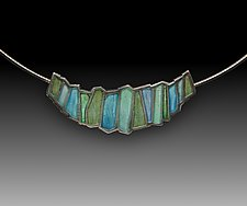 Aran Pendant No 277 by Carly Wright (Silver & Enamel Necklace)