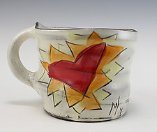 My Heart Ablaze Mug by Noelle VanHendrick and Eric Hendrick (Ceramic Mug)