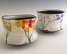 Four Seasons Tea Bowl by Noelle VanHendrick and Eric Hendrick (Ceramic Bowl)