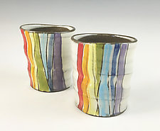 Rainbow Cups by Noelle VanHendrick and Eric Hendrick (Ceramic Drinkware)