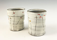 Field Flowers Cups by Noelle VanHendrick and Eric Hendrick (Ceramic Drinkware)