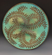 Botanical Disc by Natalie Blake (Ceramic Wall Sculpture)