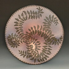 Botanical Disc II by Natalie Blake (Ceramic Wall Sculpture)