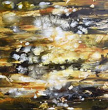 Gold Rock Strata by Stephen Yates (Acrylic Painting)