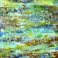 Turquoise Strata by Stephen Yates (Acrylic Painting)