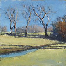 Creekside Trees by David Skinner (Acrylic Painting)