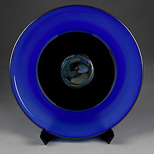 Azure Abstract by Eric Bladholm (Art Glass Platter)
