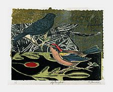 Afterglow by Ouida  Touchon (Woodcut Print)