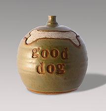 Good Dog Treat Jar by Louise Bilodeau (Ceramic Jar)