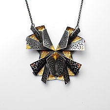 Butterfly Necklace #1 by Sophia Hu (Gold & Silver Necklace)