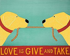 Love Is Give and Take by Stephen Huneck (Giclee Print)
