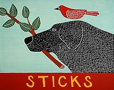 Sticks by Stephen Huneck (Giclee Print)