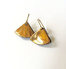 Dangly Curvy Triangles by Syra Gomez (Ceramic Earrings)