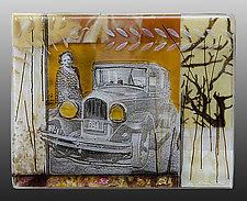 Grandpa's Pride and Joy - Car Series by Alice Benvie Gebhart (Art Glass Wall Sculpture)