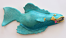 Blue Lace by Byron Williamson (Ceramic Wall Sculpture)