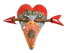 Indian Summer by Laurie Pollpeter Eskenazi (Ceramic Wall Sculpture)