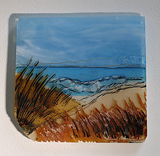 Cooling Beach Wave by Alice Benvie Gebhart (Art Glass Wall Sculpture)