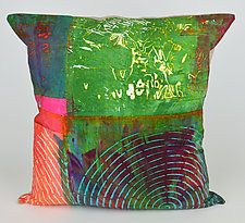 Radar Love 5 Pillow by Ayn Hanna (Cotton & Linen Pillow)