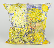 Lemon Zest Pillow by Ayn Hanna (Cotton & Linen Pillow)