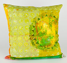 Honey Dew Drops Pillow by Ayn Hanna (Cotton & Linen Pillow)