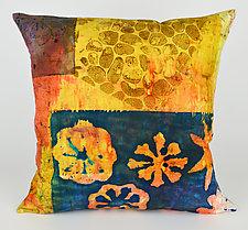 Pebble Beach Pillow by Ayn Hanna (Cotton & Linen Pillow)