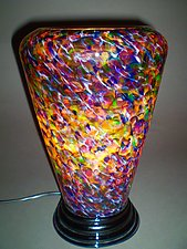 Multicolored Glass Lamp by Curt Brock (Art Glass Table Lamp)