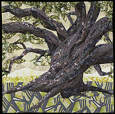 Cathedral Oak by Linda Beach (Fiber Wall Art)