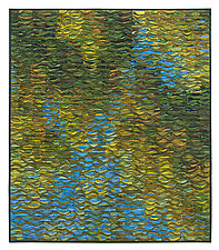 Reflecting Pool Shimmer # 8 by Tim Harding (Fiber Wall Art)