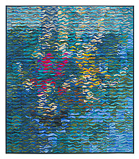 Poolside Shimmer by Tim Harding (Fiber Wall Hanging)