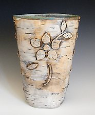 Homage to the Ojibwa 14 by Lenore Lampi (Ceramic Vase)