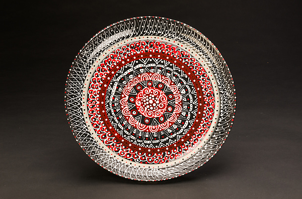Intricate Black & Red Platter