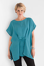 Tie Front Tunic by Carol Turner  (Linen Tunic)