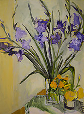 Purple Gladiola by Lila Bacon (Giclee Print)