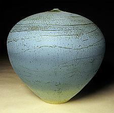 Turquoise Wrap by Nicholas Bernard (Ceramic Vessel)