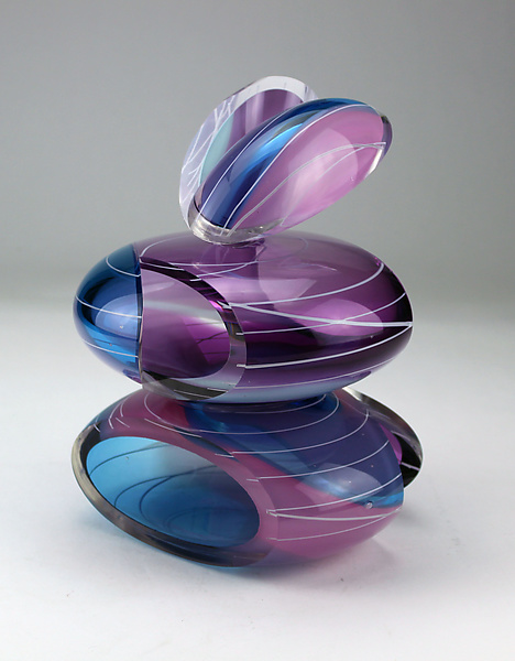 Transparent Remnant Vessel in Purple and Blue