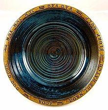 Happy Dog Bowl by Louise Bilodeau (Ceramic Bowls)