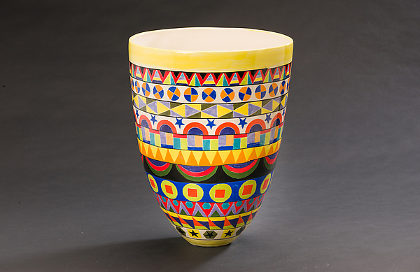 Intricately Patterned Tall Vase
