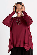 Boat Neck Rib Sweater by Planet   (Knit Sweater)
