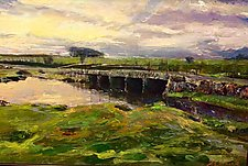 Stone Bridge at Sunrise by Ron Reams (Giclee Print)
